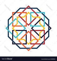 Islamic pattern. Vector geometric lattice mandala in arabic style. Download a Free Preview or High Quality Adobe Illustrator Ai, EPS, PDF and High Resolution JPEG versions.
