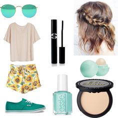 Untitled // 5 by lucywerta on Polyvore featuring polyvore fashion style Fine Collection Vans Sisley Paris Eos Essie