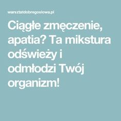 Ciągłe zmęczenie, apatia? Ta mikstura odświeży i odmłodzi Twój organizm! Slow Food, Health And Beauty, Einstein, Smoothie, Health Tips, Health Fitness, Food And Drink, Workout, Healthy