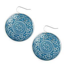 Make these Engraved Medallion Drop Earrings the star of your look #moreismore