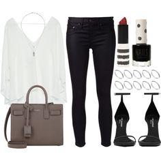 Style #8989 by vany-alvarado on Polyvore featuring Zara, rag & bone/JEAN, Yves Saint Laurent, ASOS and Topshop