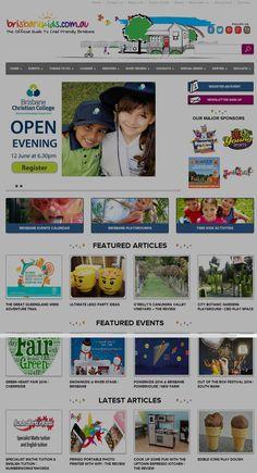 We design for the Official Guide To Child Friendly Brisbane - Brisbanekids.com.au Brisbane Events, Valley City, Christian College, Portfolio Web Design, Feature Article, Child Friendly, Event Calendar, Playground