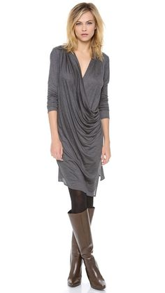 I sideeye the grey, but love the drape of this dress.