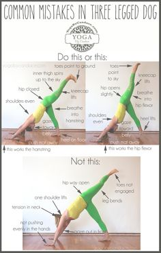 Three Legged Dog #Yoga Pose – Common Mistakes