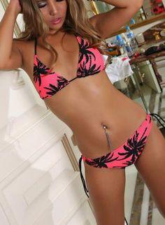 59556c4d7a994 Summer Vacation Triangle Bikini Set Junior Outfits