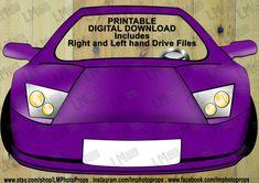 Purple Lamborghini Car Photo Booth Prop  Purple by LMPhotoProps