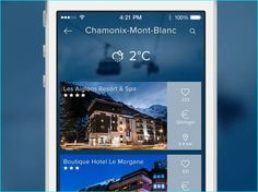 20 Example of Hotel App UI Design for Inspiration App Ui Design, Mobile App Design, Hotel App, Chamonix Mont Blanc, Spa, Mobile App Ui, App Development, Wall Design, Website