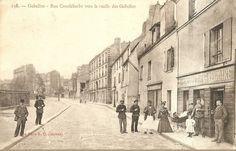 La rue de Croulebarbe au niveau de la ruelle des Gobelins vers 1900 - Paris 13ème