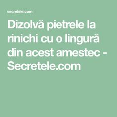Dizolvă pietrele la rinichi cu o lingură din acest amestec - Secretele.com Good To Know, Healthy Recipes, Healthy Food, Healthy Foods, Healthy Eating Recipes, Healthy Eating, Healthy Food Recipes, Health Foods, Clean Eating Recipes