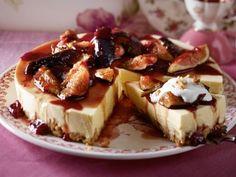 Mango-Feigen-Torte mit Walnussboden