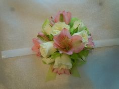 Coral alstromeria with ivory sweetheart roses Wedding Corsages, Knot, Roses, Coral, Ivory, Weddings, Flowers, Design, Knots