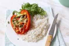 Gevulde paprika's met tonijn