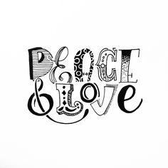 Peace&love #handlettering