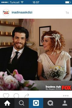 Can Yaman and Acelya Topaloglu- their wedding in the Turkish TV series INADINA ASK, This series was a good one! Turkish Men, Turkish Actors, Man Bun, Love Can, Good Looking Men, Relationship Goals, Sexy Men, Tv Series, How To Look Better