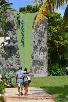 Go for a climb - Sandals Grande Riviera Beach & Villa Golf Resort - #Ocho #Rios, #Jamaica #Sandals #Destination #Wedding #Travel #Rock #Wall