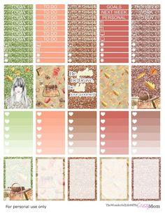 Fall Fashion Free Happy Planner Printable Kit