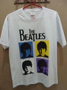 Camiseta Masculina The Beatles Tamanho P R$ 39,00  www.elo7.com.br/dixiearte