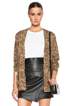 Shop for Saint Laurent Ocelot Print Oversize Cardigan in Black, Brown & Camel at FWRD. Free 2 day shipping and returns.