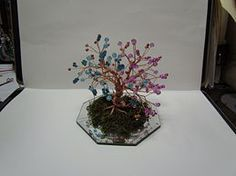 HOW TO MAKE a Copper Wire tree tutorial...remember having them as a kid