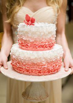 Stunning ruffled pink cake