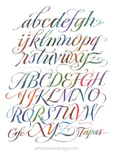 Watercolor indulgence. A page I did for a book on lettering.