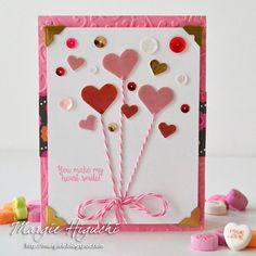 You Make my Heart Smile card & tutorial using 3D Foam Hearts on the #sbadhesivesby3L blog, from @ilscraps.