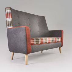 One of a very few high backed modern sofas I could find. NOT in these fabrics tho!