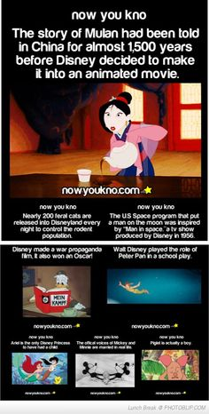 Now You Know Facts About Disney
