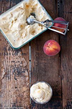 Grilled Peach Ice Cream | Domestic Fits