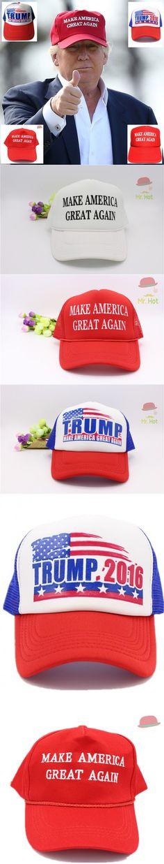 Make America Great Again Hat Donald Trump Cap 2016 GOP Republican Adjust  Mesh Baseball Cap patriots Hat Trump For president hat  6.15 8ac904341a87