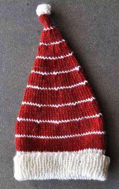 Free Candy Cane Hat Knitting Pattern