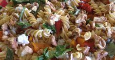 Cheats Capsicum, Feta and Walnut Pasta Salad