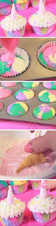 Unicorn Cupcakes | Easy Unicorn Party Ideas for Teens | Easy DIY Birthday Party Ideas for Girls Teen