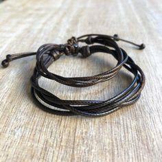 Sailfish Set, String Bracelets, Couples Bracelets,Brown Waxed Cord Bracelets,His and her Bracelet,Waterproof Set of 2 WC001526 Bracelet Couple, Matching Couple Bracelets, Cord Bracelets, Ankle Bracelets, String Bracelets, Pearl Necklaces, Bracelet Cuir, Bracelet Set, Stainless Steel Bracelet