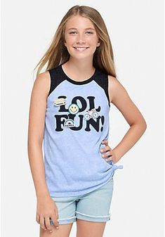 NEW JUSTICE SIZE 8 10 12 14 18 2FER TANK TOP W//CROP T-SHIRT//TOP 6 DESIGNS/&COLORS