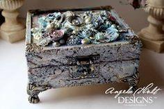 Beautiful mixed media box.