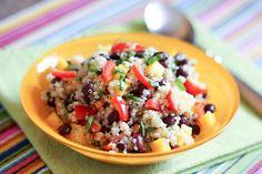 Mango Quinoa Salad - get the recipe at barefeetinthekitchen.com