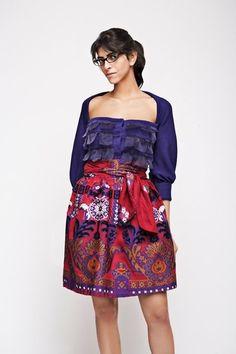 Gelfer Design A/W 2008 Handmade Art, Colours, Floral, Skirts, Pattern, Vintage, Design, Fashion, Moda
