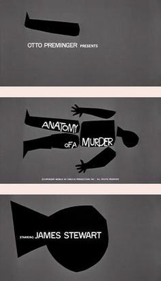 Anatomy of a Murder Title Sequence via Saul Bass, 1959