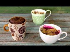 MUG CAKE VEGAN | 3 RICETTE LIGHT | Cioccolato, mela e cannella, mirtilli | Healthy Mug Cake - YouTube