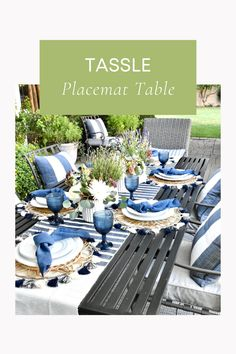 Place Setting Ideas Summer Table Decorations, Outdoor Furniture Sets, Outdoor Decor, Place Settings, Posts, Places, Blog, Ideas, Home Decor