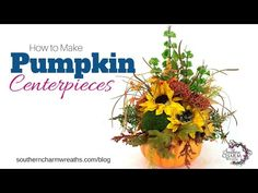 How to Make Pumpkin Centerpieces - YouTube