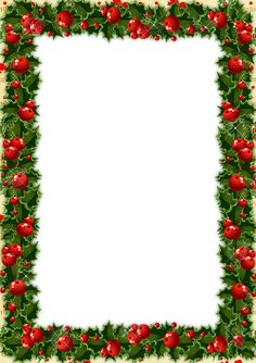 Transparent Christmas Photo Frame With Mistletoe