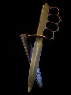 Original 1918 U.S. WWI/WWII L.F.&C. Mark 1 Trench Knife - NOW WE CAN SPEAK!