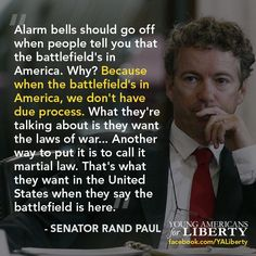 Rand Paul  He's right and I thought the same thing.