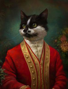http://enelnombredelgato.com/gatos-del-museo-son-arte/ Los gatos del museo Hermitage no sólo custodian millones de obras de arte: ellos mismos han sido transformados en cuadros por Eldar Zakirov.