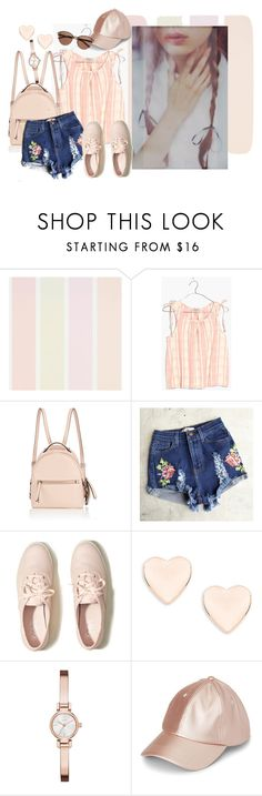 """""""Pastel plaid"""" by nicolepuppy ❤ liked on Polyvore featuring Madewell, Fendi, Hollister Co., Ted Baker, DKNY and Witchery"""