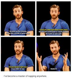 """Chris """"I can do this all day"""" Evans"""