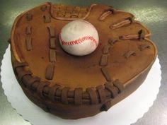 Baseball Glove & Ball Cake