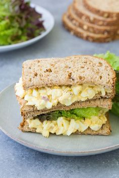 easy egg salad recipe makes the best healthy egg salad. It starts with perfec. - Keto -My easy egg salad recipe makes the best healthy egg salad. It starts with perfec. Healthy Egg Salad, Easy Egg Salad, Healthy Salad Recipes, Egg Salad Sandwiches, Healthy Sandwiches, Egg Mayo Sandwich, Lettuce Sandwich, Light Recipes, Egg Recipes